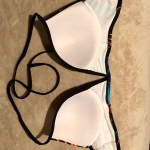 PINK Victoria's Secret Swim - Victoria's Secret PINK Deep V Bikini Top Halter
